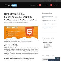 HTML5 Maker, crea espectaculares banners, slideshows y presentaciones