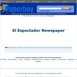 El Espectador Newspaper (Spanish) from Bogota, Colombia