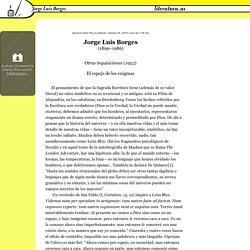 El espejo de los enigmas, Jorge Luis Borges (1899–1986)
