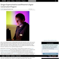 Dragan Espenschied to Lead Rhizome's Digital Conservation Program