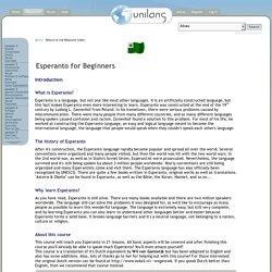 Esperanto for Beginners