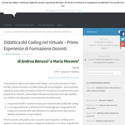 Didattica del Coding nel Virtuale – Prime Esperienze di Formazione Docenti – BRICKS