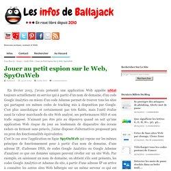 Jouer au petit espion sur le Web, SpyOnWeb