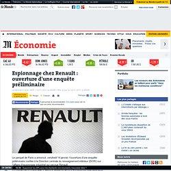 Espionnage chez Renault : ouverture d'une enquête préliminaire