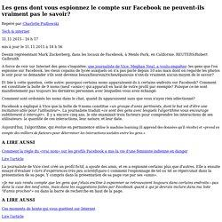 Les gens dont vous espionnez le compte sur Facebook ne peuvent-ils vraiment pas le savoir?