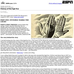 ESPN.com - The history and mystery of the high five