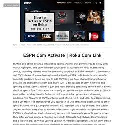 Roku Com Link - Roku Code ESPNCOMACTIVATE roku device RokuLink Code rokusetup