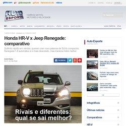 Auto Esporte - Honda HR-V x Jeep Renegade: comparativo