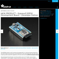 NEW PRODUCT – Espressif ESP32 Development Board – Developer Edition