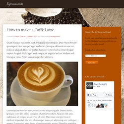 Espressionista – Just another WordPress site