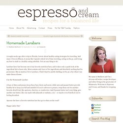 Espresso and Cream | Homemade Larabars | Espresso and Cream