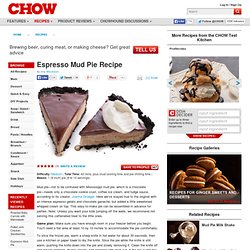Espresso Mud Pie Recipe