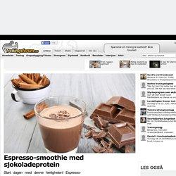 Espresso-smoothie med sjokoladeprotein
