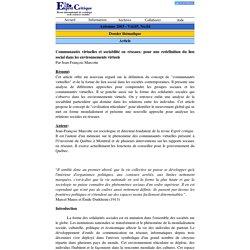 Esprit critique > Automne 2003
