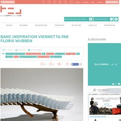Banc inspiration Vienetta par Floris Wubben