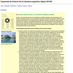 Esquemas de literatura española. Siglo XXI
