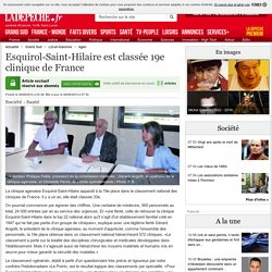 Esquirol-Saint-Hilaire est classée 19e clinique de France - 28/08/2014 - ladepeche.fr