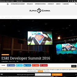ESRI Developer Summit 2016