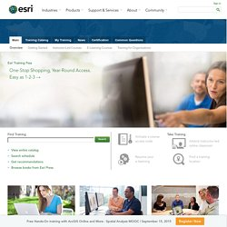 GIS Training from the GIS Software Leader