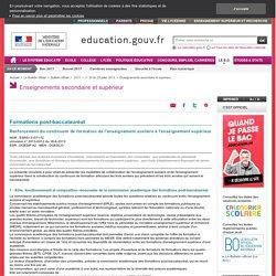 Continuum de formation des enseignements scolaire à supérieur