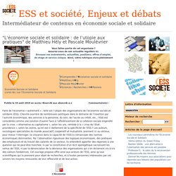 ESS et société, Enjeux et débats