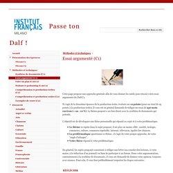 Essai argumenté (C1) - Passe ton Dalf !