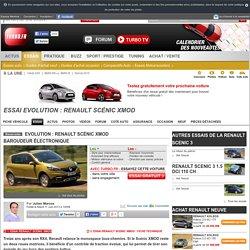 Essai Evolution : Renault Scénic XMOD - Test auto Turbo.fr