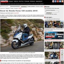 Essai du Honda Forza 125 modèle 2015