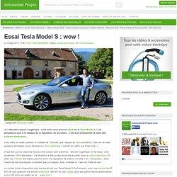 Essai Tesla Model S : wow !