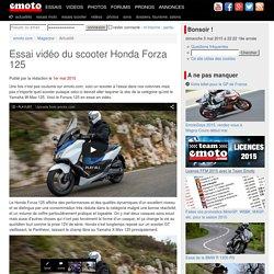 Essai vidéo du scooter Honda Forza 125