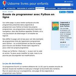 Programmer avec Python en ligne