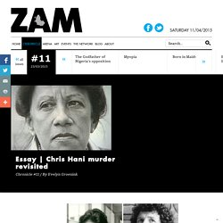 Chris Hani murder revisited - ZAM