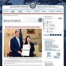foreign service national high school essay High school essay requires thorough topic selection to promote reflection on the benefits of multilingualism to both individuals and their communities, the language programs at national hs essay contest is open to all high school students whose parents are not in the us foreign service it is the only part of the.