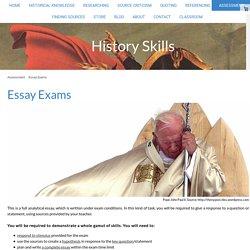 Essay Exams - History Skills