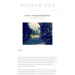 Essay: On Kishōtenketsu — Nicole Lee