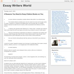Essay Writers World: 4 Reasons You Need to Keep Citation Books on You