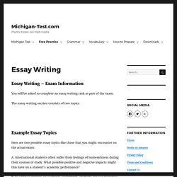 Essay Writing - Essay Composition and Writing