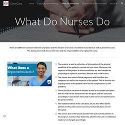 EssayCorp - What Do Nurses Do