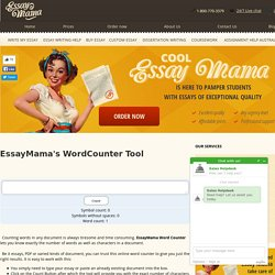 EssayMama's Word Counter - Count Your Words Easily