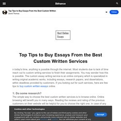 Top Tips to Buy Essays From the Best Custom Written Services
