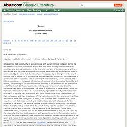 21 - Essays - Ralph Waldo Emerson (1803-1882)