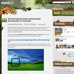 30 Hand-picked Flash and Essential Actionscript 3.0 Tutorials - Noupe Design Blog