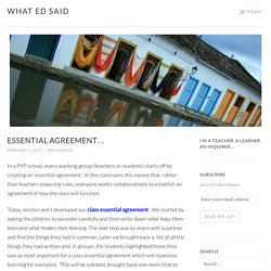 Essential agreement… – What Ed Said