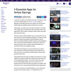 4 Essential Apps for Airfare Savings