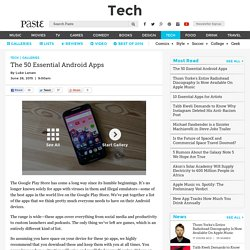 The 50 Essential Android Apps