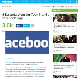 8 Essential Apps for Your Brand's Facebook Page