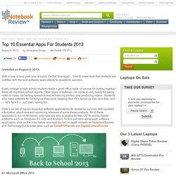 Top 10 Essential Apps For Students 2013