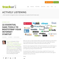 22 essential SaaS tools to bootstrap your internet startup