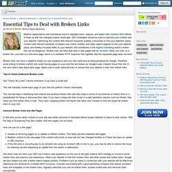 Essential Tips to Deal with Broken Links by Monica Barber