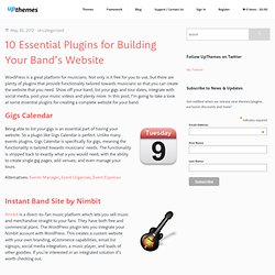 10 Essential Plugins for Building Your Band's Website